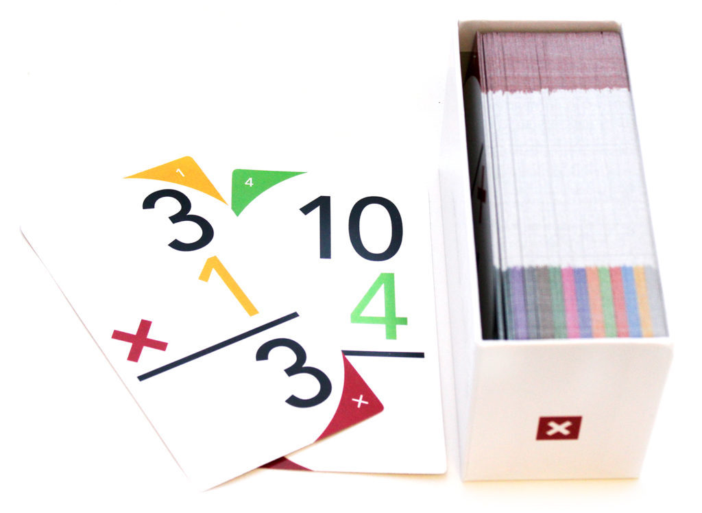 UpSparks Multiplication Flash Cards Open Box
